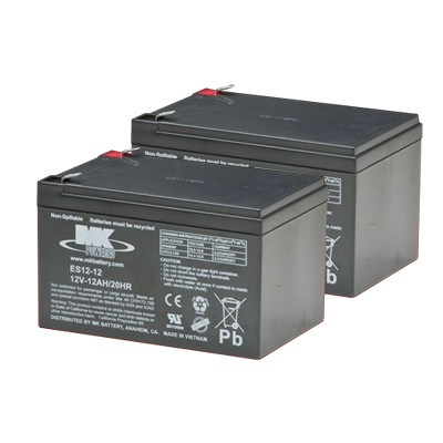 MK Battery 12V 12 AH Sealed Lead Acid (Pair)