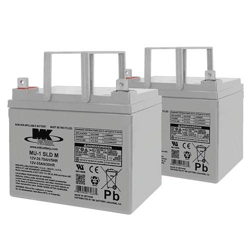 MK Battery 12V 32AH Sealed Valve-Regulated Lead Acid (Pair)