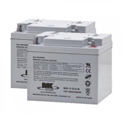 MK Battery 12V 45AH Sealed Lead Acid (Pair)