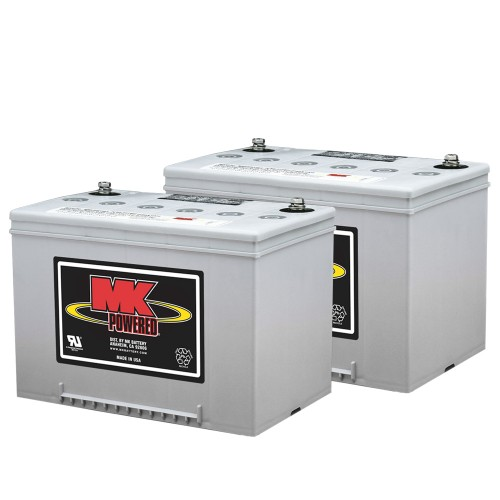 MK Battery 12V 60AH Sealed Gel (Pair)