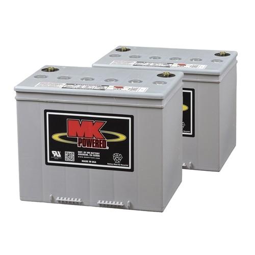 MK Battery 12V 74AH Sealed Gel - Flat Top (Pair)