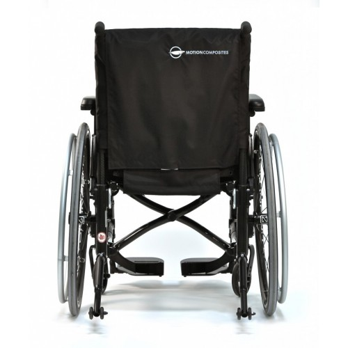Back view of Motion Composites Helio C2 Ultralight Folding Carbon Fiber Wheelchair