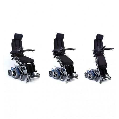 Process of Karman XO-505 Standing Wheelchair becoming Upright