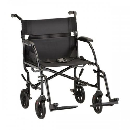 """Black Nova 18"""" Ultra Lightweight Transport Wheelchair"""