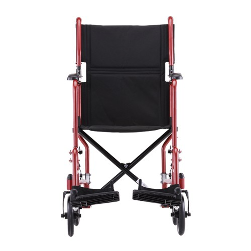 "Front view of Red Nova 19"" Lightweight Transport Chair"