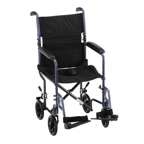 """Blue Nova 19"""" Lightweight Transport Chair"""