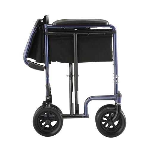 """Folded Blue Nova 19"""" Lightweight Transport Chair"""