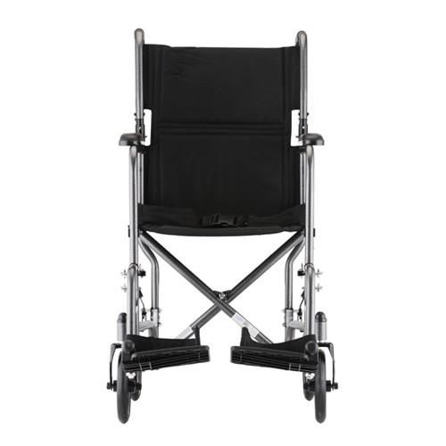 "Front view of Silver Nova 19"" Lightweight Transport Chair"