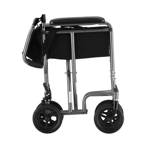 "Folded Silver Nova 19"" Lightweight Transport Chair"