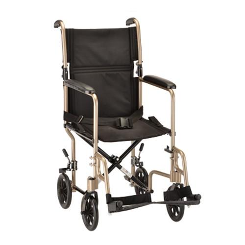 """Gold Nova 19"""" Lightweight Transport Chair"""
