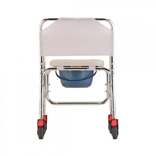 Back view of Nova Commode/Shower Chair with Wheels