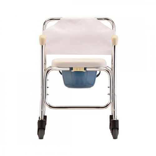 Front view of Nova Commode/Shower Chair with Wheels