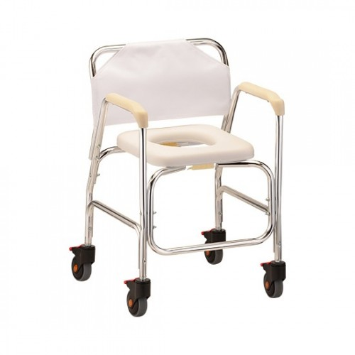 Nova Commode/Shower Chair with Wheels