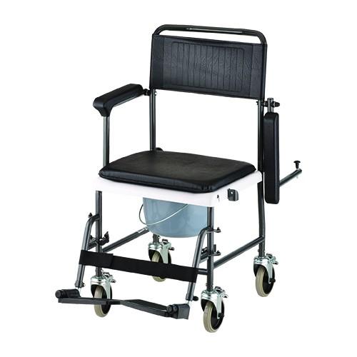 Nova Drop-Arm Transport Chair Commode