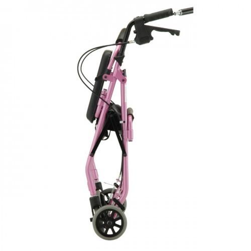 Folded Pink Nova GetGo Classic Rollator