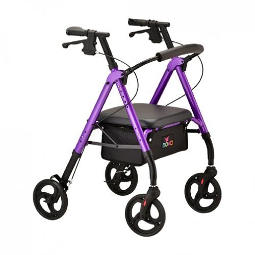 Purple Nova Star 8 Rollator
