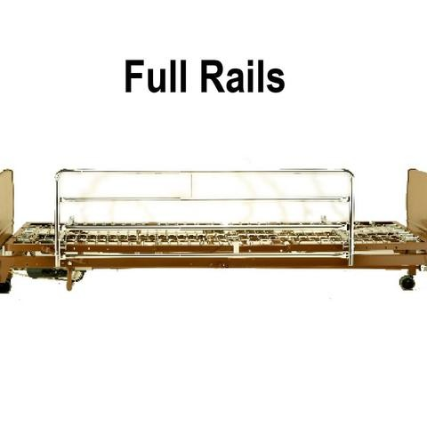 Full Rails on a Full Electric Hospital Bed Rental
