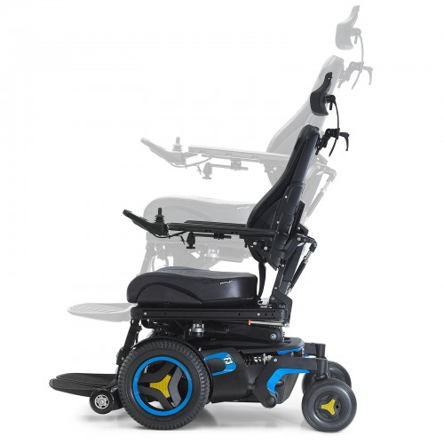 Side view of Permobil F3 Corpus Front Wheel Power Wheelchair