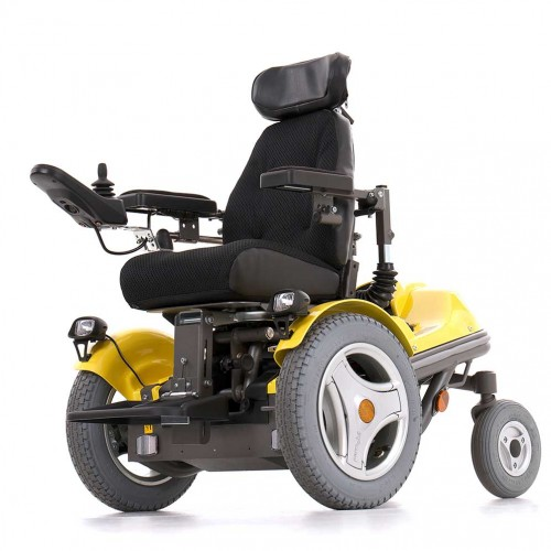 Yellow Permobil Koala Mini-Flex Pediatric Power Wheelchair