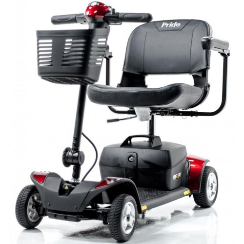 Front view of Red Pride Go-Go Elite Traveller 4-Wheel Mobility Scooter