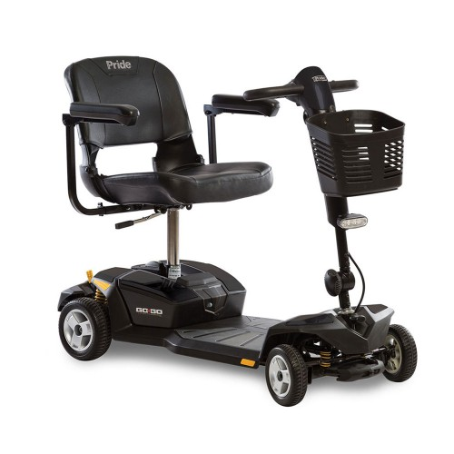 Black Pride Go-Go LX 4-Wheel Mobility Scooter with CTS Suspension