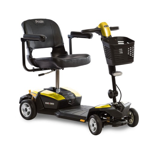 Yellow Pride Go-Go LX 4-Wheel Mobility Scooter with CTS Suspension