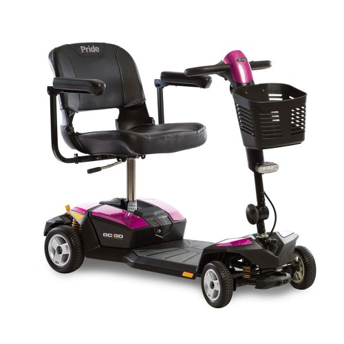 Pink Pride Go-Go LX 4-Wheel Mobility Scooter with CTS Suspension