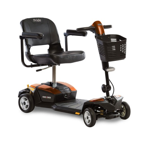 Orange Pride Go-Go LX 4-Wheel Mobility Scooter with CTS Suspension