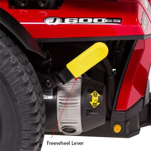Freewheel Lever of Pride Jazzy 600 ES Power Wheelchair