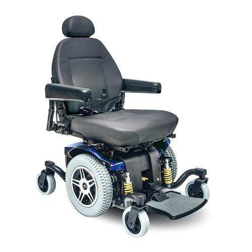 Black Cushion and Blue Pride Jazzy 614 HD Power Wheelchair