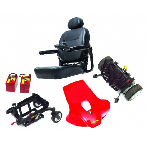 Disassembled Parts of Pride Jazzy Elite ES Power Wheelchair