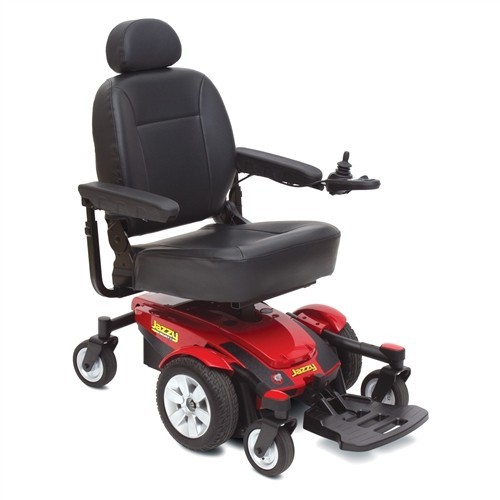Black Seat and Red Pride Jazzy Select 6 Power Wheelchair