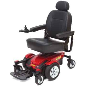 Black Cushion and Red Pride Jazzy Select 6 Power Wheelchair
