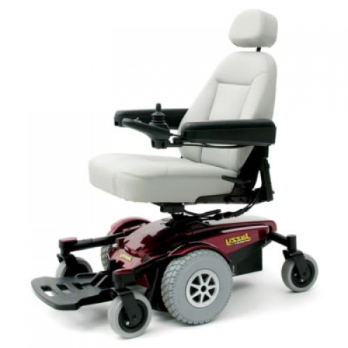 White Seat of Pride Jazzy Select 6 Power Wheelchair