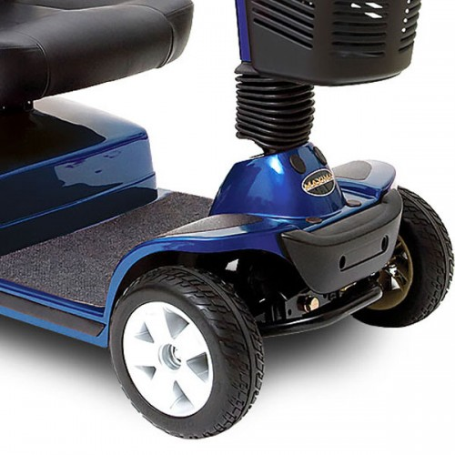 Back wheels of Blue Pride Maxima 4 Wheel Mobility Scooter