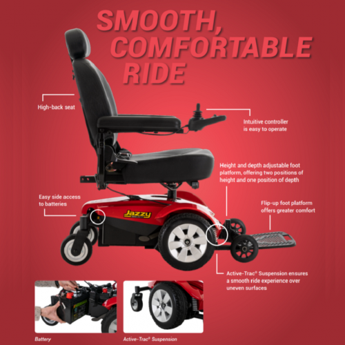 Brochure of Pride Mobility Jazzy Select Power Chair