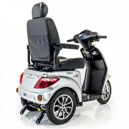 Back view of Pride Raptor 3 Wheel Mobility Scooter