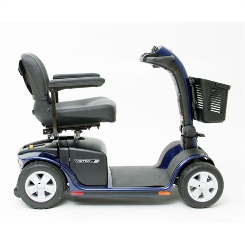 Side view of Blue Pride Victory 10 4-Wheel Mobility Scooter