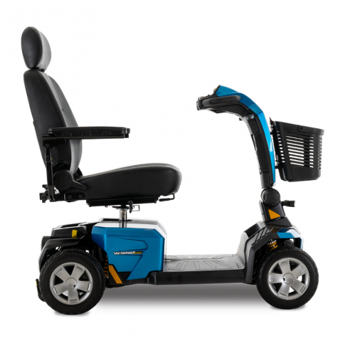 Side view of Blue Pride Victory LX Sport 4 Wheel Mobility Scooter