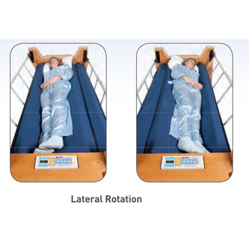 Woman sleeping with Lateral Rotation on ProBed Medical The Freedom Bed Package