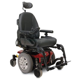 Red Q6 Edge Mid-Wheel Custom Power Wheelchair