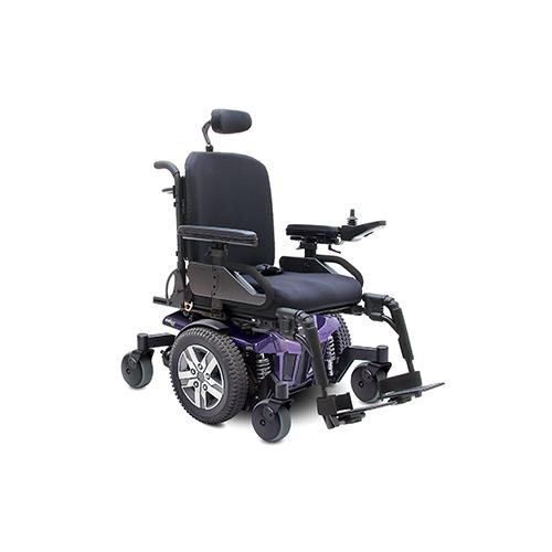 Purple Q6 Edge Mid-Wheel Custom Power Wheelchair
