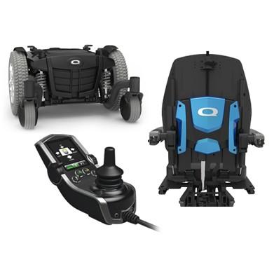Disassembled Parts of Q6 Edge Mid-Wheel Custom Power Wheelchair