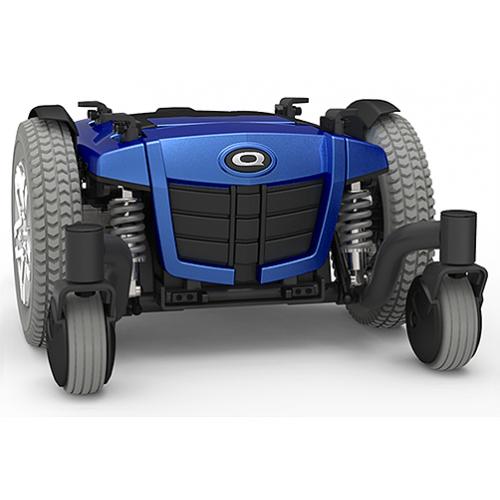 Blue Q6 Edge Mid-Wheel Custom Power Wheelchair