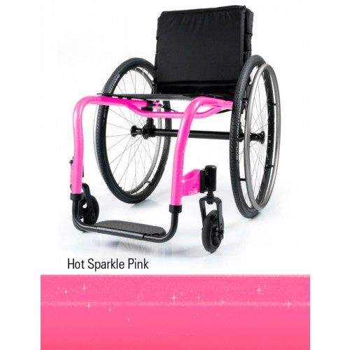 Hot Sparkle Pink Quickie QRi Rigid Manual Wheelchair
