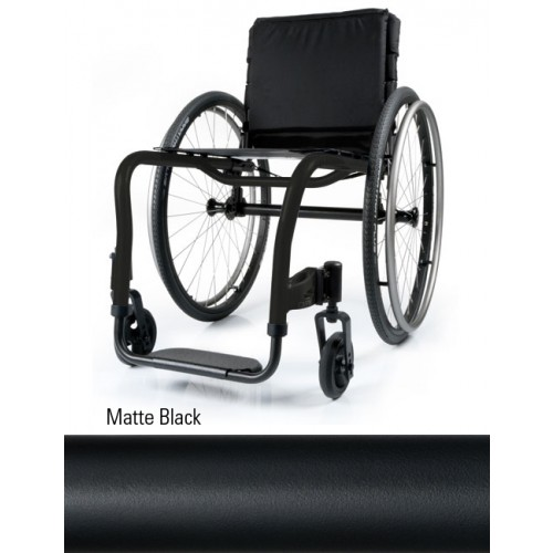 Matte Black Quickie QRi Rigid Manual Wheelchair