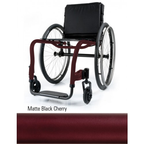 Matte Black Cherry Quickie QRi Rigid Manual Wheelchair