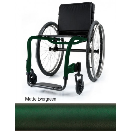 Matte Evergreen Quickie QRi Rigid Manual Wheelchair