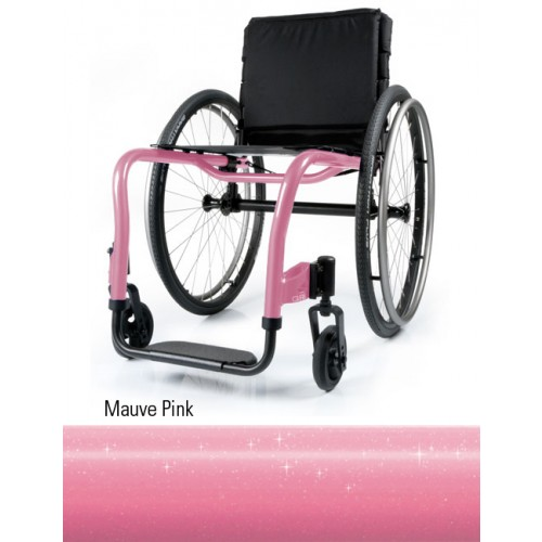 Mauve Pink QRi Rigid Manual Wheelchair