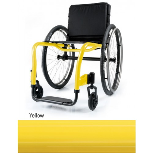 Yellow QRi Rigid Manual Wheelchair